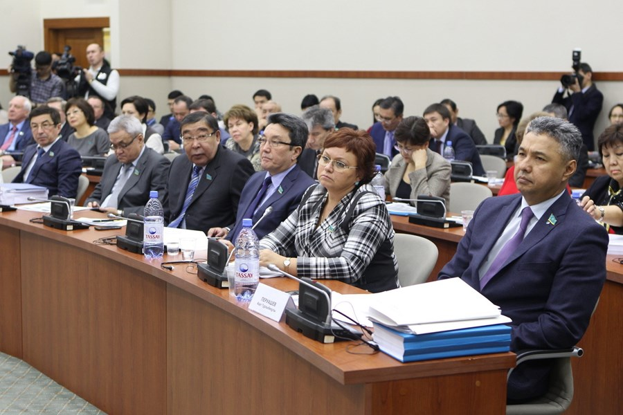 February 03, 2015. Presentationofthedraftlawof the Committee forEconomic Development and regional Development of the Mazhilis of the Parliament of the Republic of Kazakhstan