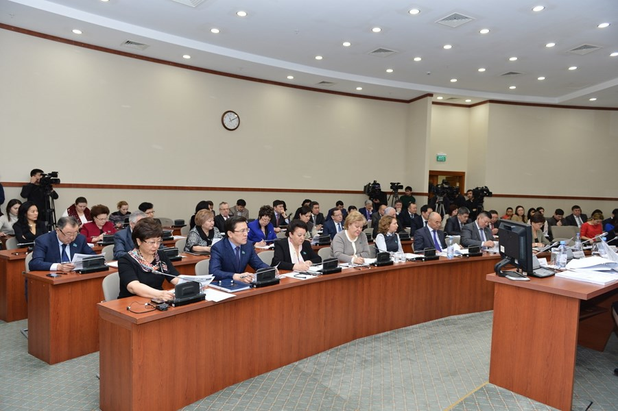 February 13, 2015 Presentation of the draft law of the Committee on Social Cultural Development of the Mazhilis of the Parliament of the Republic of Kazakhstan